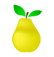 yellow pear on a white background vector image