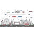 london skyline with national famous landmarks vector image