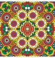 ethnic bright mandala style flowers pattern vector image