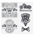 motocycles vector image