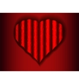 corrugated web of a heart on a red background