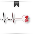 abortion is personal decision embryo vector image vector image