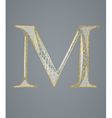 Abstract golden letter M vector image vector image