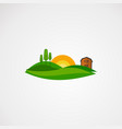 agriculture landscape logo element and template vector image vector image
