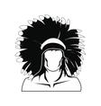 American indian icon vector image vector image
