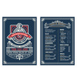 antique template for restaurant menu design vector image