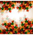 autumn background maple leaves for your design vector image vector image