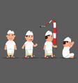 bali boy cute cartoon character set vector image vector image
