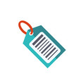 barcode flat icon vector image vector image