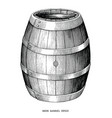 beer barrel hand draw vintage engraving style vector image