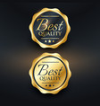 best quality golden label design vector image vector image