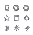 Black white grey logo elements set vector image vector image