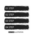 brush strokes infographics options banner for vector image