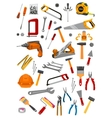 Building repair work tools isolated icons vector image vector image