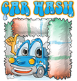 car wash cartoon vector image