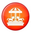 Carousel with horses icon flat style vector image vector image