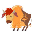 cartoon buffalo vector image