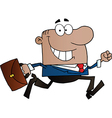Cartoon business man vector image vector image