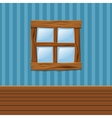Cartoon Wooden old window Home Interior vector image vector image