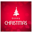 christmas greetings card with pink background and vector image vector image
