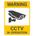 closed circuit television signs cctv vector image vector image