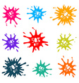 Colorful Sale Splashes Set vector image vector image