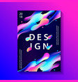 creative design poster with plastic shapes vector image vector image