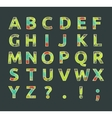 Creative spectral alphabet of geometric paper vector image vector image