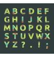 Creative spectral alphabet of geometric paper vector image
