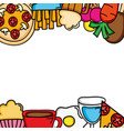 delicious and nutritive food menu frame vector image