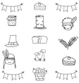 Doodle of thanksgiving hand draw vector image vector image