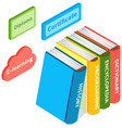 education book in isometric style isolated vector image