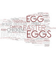 eggs word cloud concept vector image