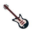 electric guitar instrument vector image vector image