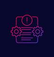 error report failed test linear icon vector image vector image
