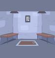 escape ancient room interior prison ell reality vector image vector image
