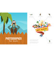 flat photography colorful concept vector image vector image