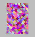 gradient abstract diagonal square pattern page vector image vector image
