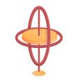 gyroscope aerospace icon cartoon style