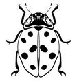 hand drawn ink sketch ladybug isolated vector image vector image
