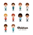 happy children design vector image vector image
