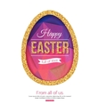 Happy Easter Background Easter egg vector image vector image