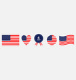 happy independence day icon set line united vector image vector image