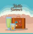 hello summer design vector image vector image