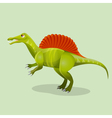 Iguanodon iguana-tooth isolated Ornithopod vector image