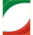 italian flag frame background vector image vector image