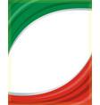 italian flag frame background vector image vector image