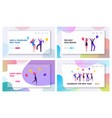 joyful friends or colleagues celebrating christmas vector image vector image