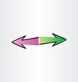 left and right arrows design element vector image