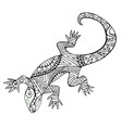 lizard with many patterns for coloring book vector image vector image